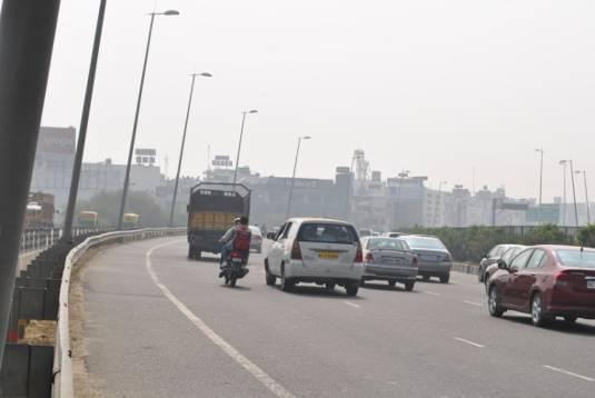 NH-8. The alignment runs along the eastern side of the NH-8 till it reaches the built up areas in Mahipalpur and then crosses over to