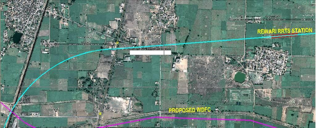The Rewari RRTS Station will be located in the transport land use area earmarked in the Master plan, south of Gajjiawas Village.