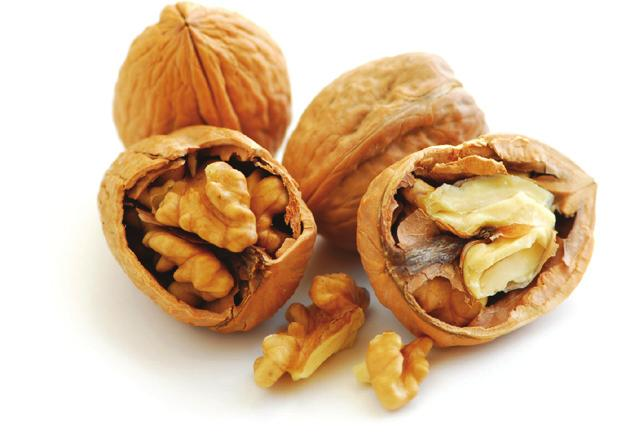 WALNUTS are another source of Omega-3 fats. Toss some in a salad, or enjoy a small handful.