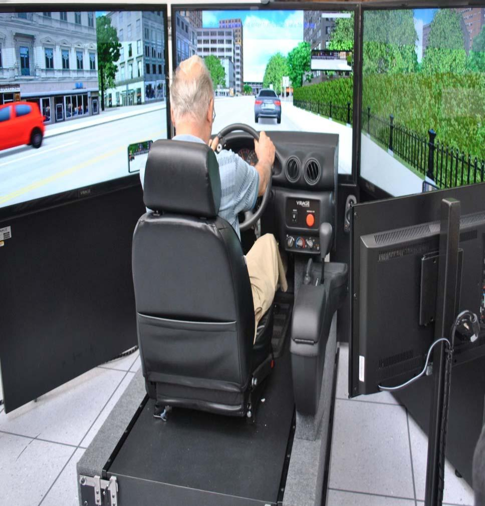 Driver behaviour Simulator studies Driving simulators allow for the examination of a range of driving performance measures in a controlled, relatively realistic and safe driving environment
