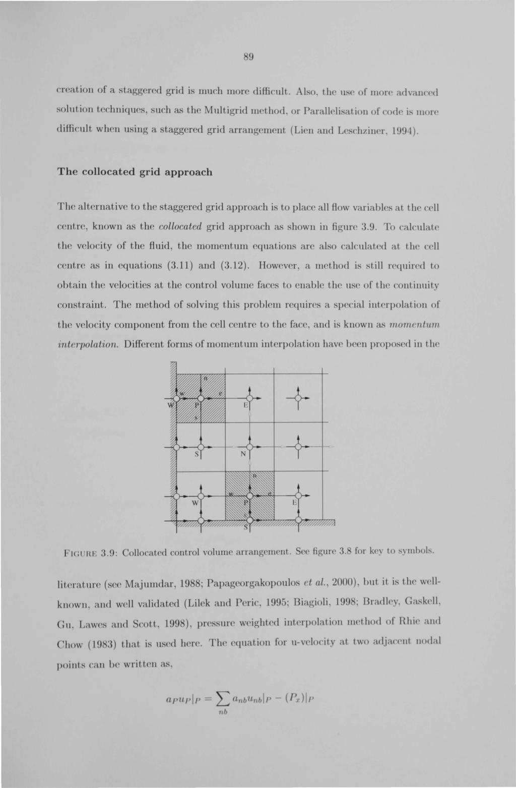 9 creation of a staggered grid is much more difficult. L o. th(' ls(, of more ad Val(' 'd solution techniques,. uch a.<) the Multigrid method, or Parall lisation of cod i.