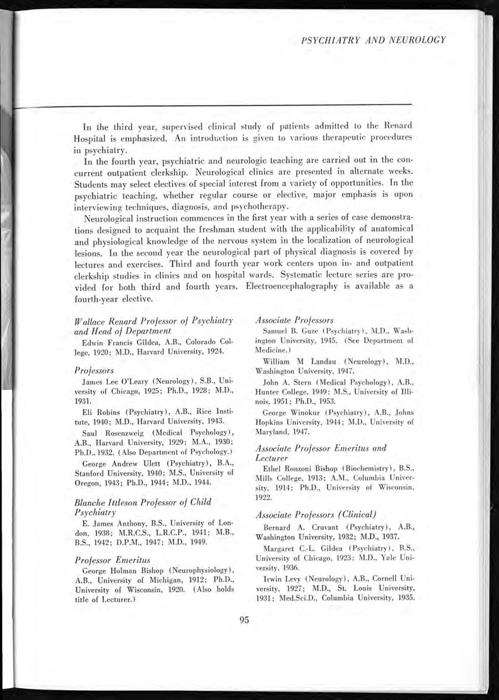 Washington University School Of Medicine Bulletin Pdf Coby Mat Mono Month Blanch New M Psychiatry And Neurology In The Third Year Supervised Clinical Study Patients Admitted To