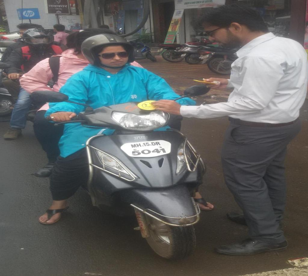 Street play at college road nashik pdf student putting smiley on bike of a citizen following traffic rules there were 40 students participating fandeluxe Choice Image