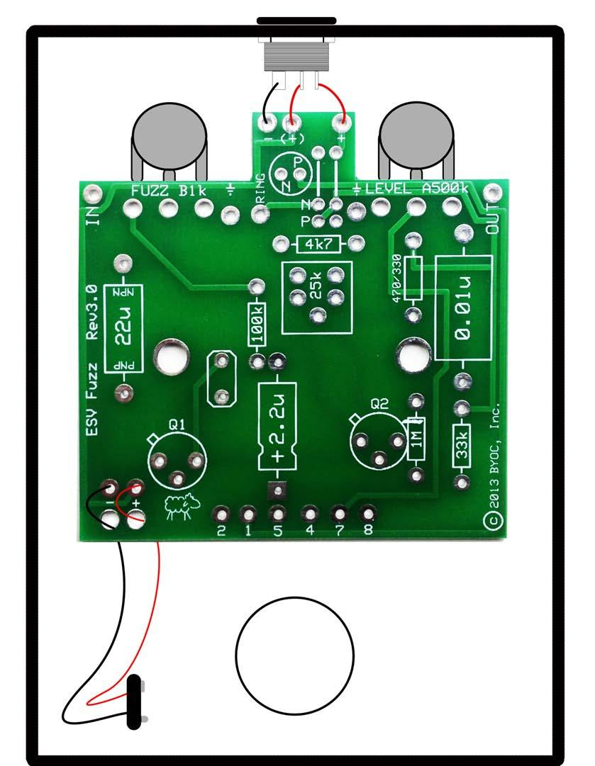 Build Your Own Clone Esv Fuzz Germanium Pnp Positive Ground Kit Electronicsdiycomcircuit And The Rf Thief Only Thing You Need To Worry About With This Pedal Is Not Using A Daisy Chain Power Supply Unless All Of Other Pedals On Have