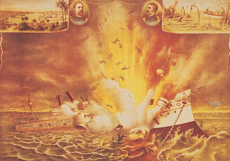 CHAPTER 20 Becoming a World Power 661 The Maine Blows Up in Havana Harbor The artist has captured here the horror of the sinking of the Maine, with scenes before and after the explosion.