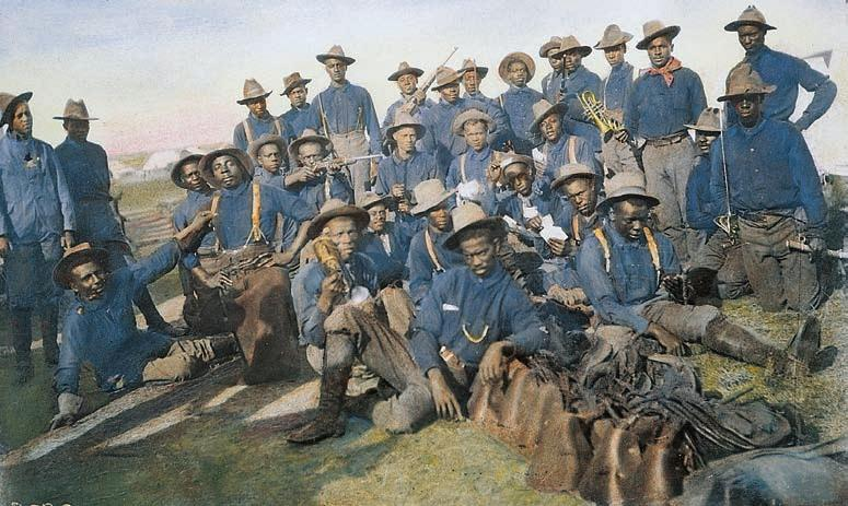 CHAPTER 20 Becoming a World Power 663 Teddy s Charge and African American Troops in Cuba The celebrated charge of Teddy s Rough Riders up Kettle Hill, shown in the painting (left), was made possible