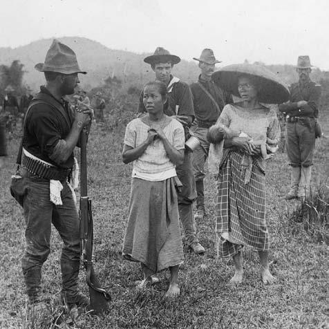 Within a year, Americans would impose imperial rule over the Philippines, marching through and burning villages (as the Twentieth Kansas Volunteers are doing here) and waging war against civilians in