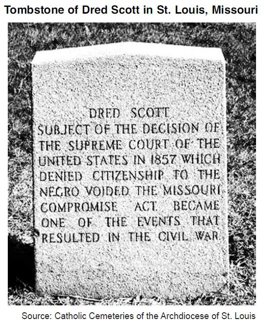 Document 1 Dred Scott v. Sanford (1857) In 1846 a slave named Dred Scott and his wife, Harriet, sued for their freedom in a St. Louis city court. The odds were in their favor.