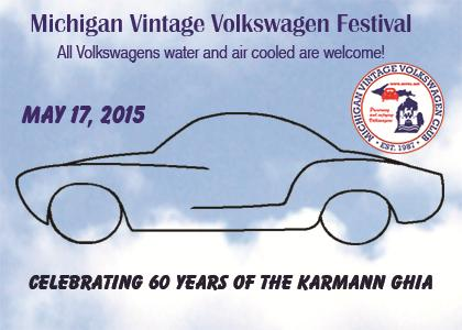 CELEBRATING 60 YEARS OF THE KARMANN GHIA is this years theme for our Vintage Festival.