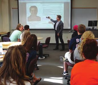 Kinkade helps current public relations students imagine and launch their own successful careers.