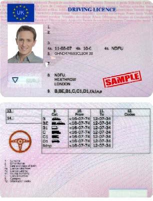 First and Last name Date of birth Issue and expiry date Identity document serial number Signature The following documents are not acceptable forms of identity