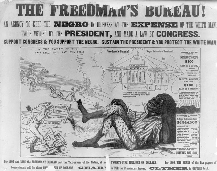 African Americans worried about losing their new freedom, especially after Lincoln s death. In March 1865, Congress established the Freedmen s Bureau.