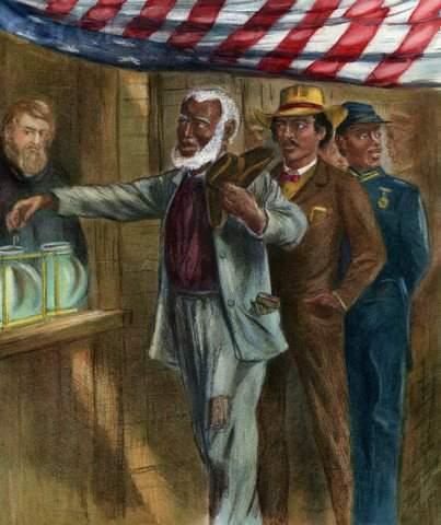 Voting became one of proud Southern African Americans new freedoms.