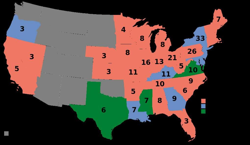 The votes that the Republican party received from African Americans in the 1868 presidential election convinced