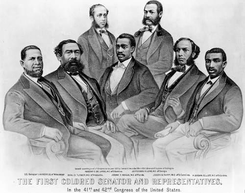 All together the Southern states sent 20 African Americans to the House of Representatives. South Carolina alone elected eight African Americans to Congress, including Robert Smalls.