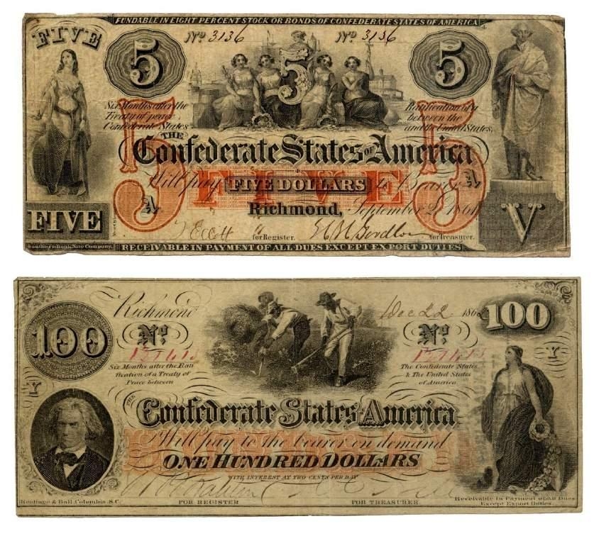 White Southerners who had invested heavily in Confederate currency lost everything when their funds became worthless after the war.