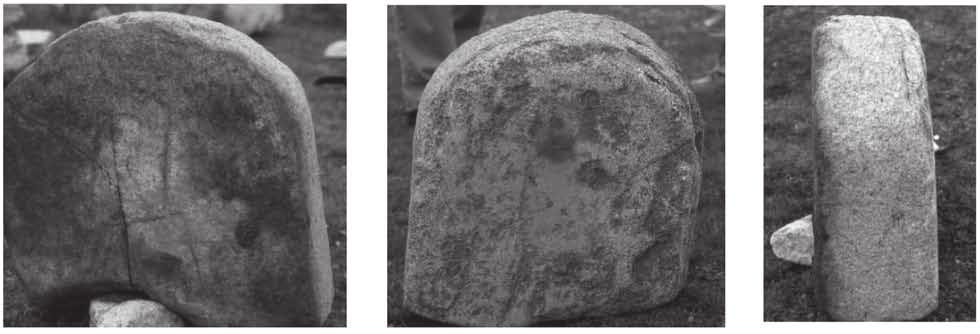 Figure 7. The headstone of the Ongi stele with tam a designs of a ram and a snake. From the sawa 1996). Figure 8 sawa 1996).