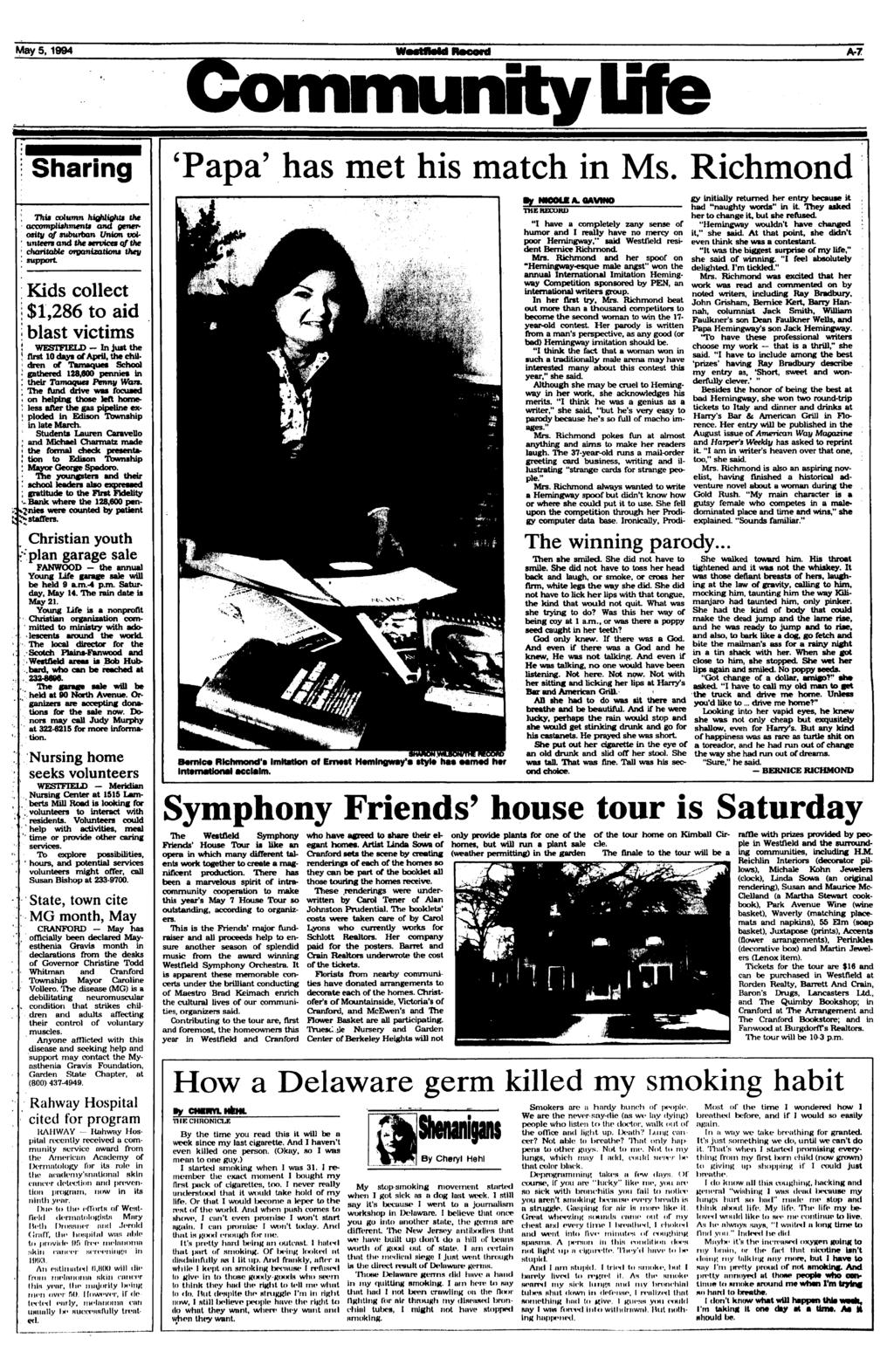 Thefestfield record pdf may 5 1994 community lite a 7 sharing this column highlights the accomplishment fandeluxe Images