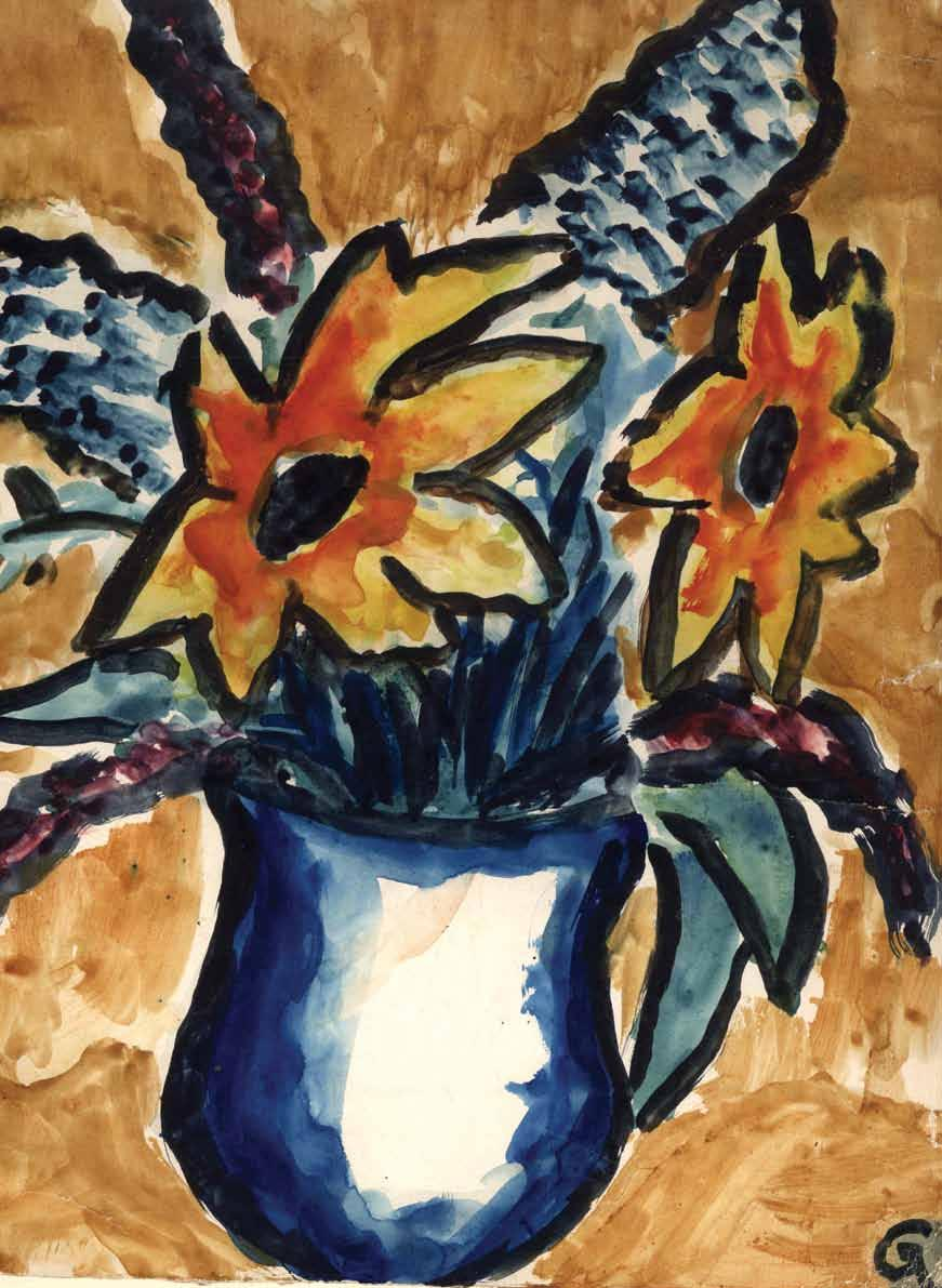 CHAPTER 5 KA-DU S DESTRUCTION Petr Ginz (1928-1944); Vase with flowers, 1942-1944; Watercolour on paper; Collection of the Yad Vashem Art Museum, Jerusalem; Gift of Otto Ginz, Haifa The Nazis handed