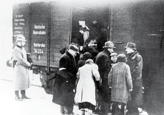 Jews were sent on trucks, ships and by foot, but mostly by train, to concentration camps, labour camps and killing centres in Eastern Europe.