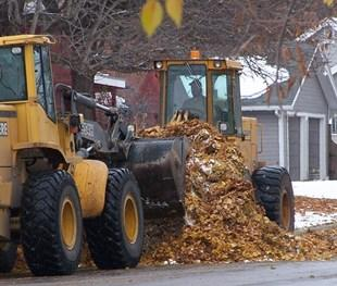 FALL LEAF REMOVAL Kalispell City crews remove leaves from City streets during the fall season.