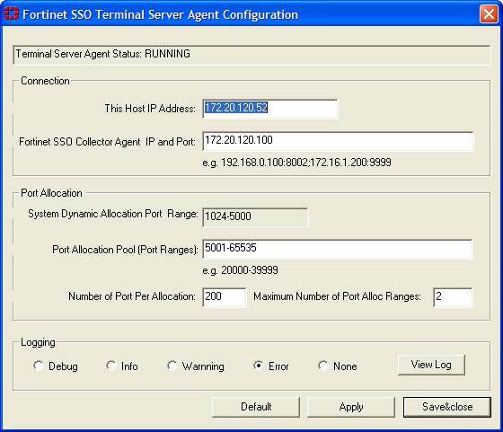 Configuring FSSO with Novell networks Agent-based FSSO Configuring the TS agent Configuring FSSO with Novell networks You need to configure the edirectory agent for it to communicate with edirectory