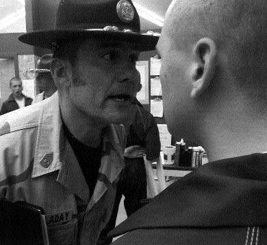 front-teen violence 3/1/04 2:18 PM Page 86 86 A drill instructor reprimands a juvenile offender at the mediumsecurity Second Chance Boot Camp in Washington State.