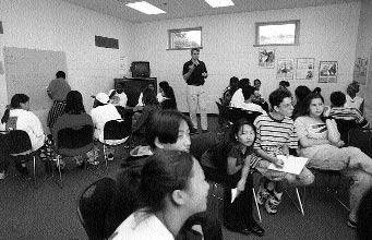 front-teen violence 3/1/04 2:18 PM Page 96 96 FPO 6-3 80% match to image Teenage Boys and Girls Club members attend special training classes to learn how to resist the pressures of alcohol, drugs,
