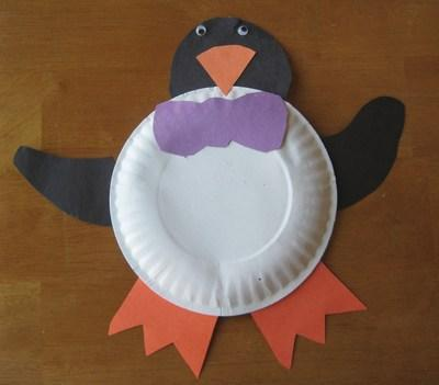 Kids Crafts Paper Plate Penguin Ever Since The Movie Happy Feet Penguins Have Become