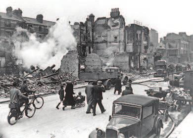 802 Chapter 27 Fighting the Good Fight in World War II, 1941-1945 Figure 27.6 London and other major British cities suffered extensive damaged from the bombing raids of the Battle of Britain.