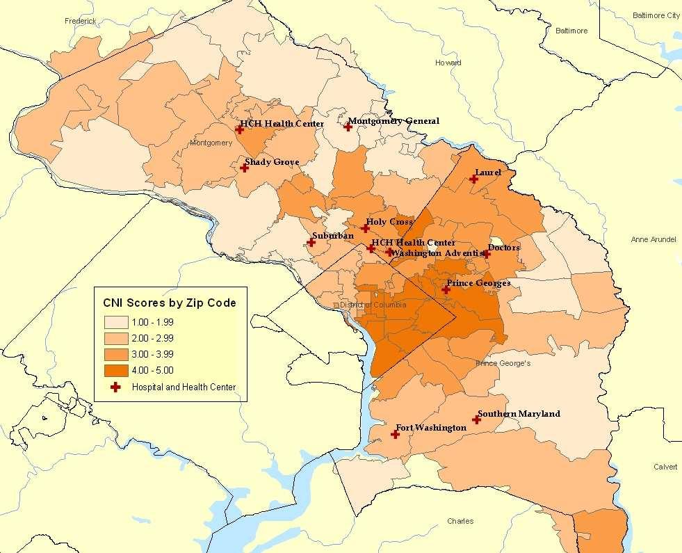 Attachment D 2009 Community Needs Index Montgomery and Prince George s County