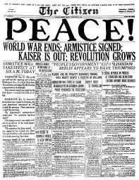 AN ABC OF CANADA IN WWI N for NOVEMBER 11TH the Front, silent as the grave. Who gave the orders to cease fire? What was the reaction at the front? Where did the troops go after the ceasefire?