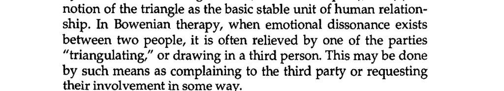 Two fundamental concepts articulated by Bowen are (a) selfdifferentiation, the process of extricating oneself from the family s undifferentiated ego mass (Nichols, 1984, p.