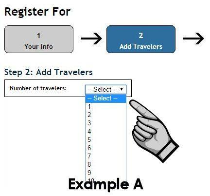Nowak Tours Online Registration & Payment Instructions Follow these steps to register for the trip and make online payments.