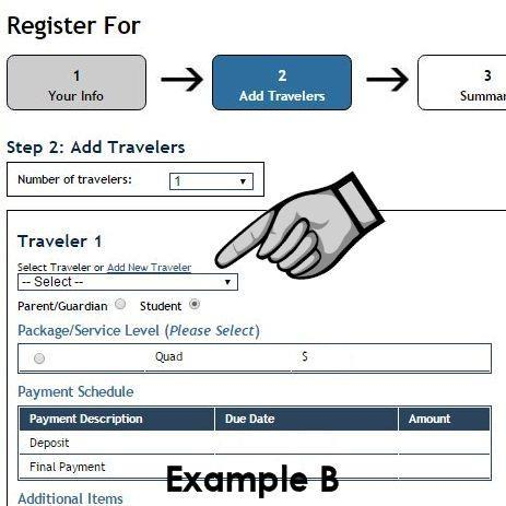 com and click the Traveler Login link at the top right. The login screen displayed in Image A will appear. Returning users will log into your account using your username and password.
