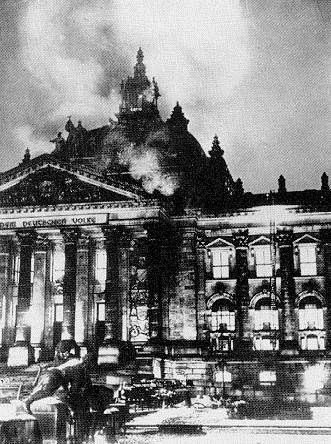 Reichstag Fire Reichstag Fire - 27 Feb 1933 The Reichstag (the German Parliament) burned down. A Dutch Communist named van der Lubbe was caught red-handed with matches and fire-lighting materials.