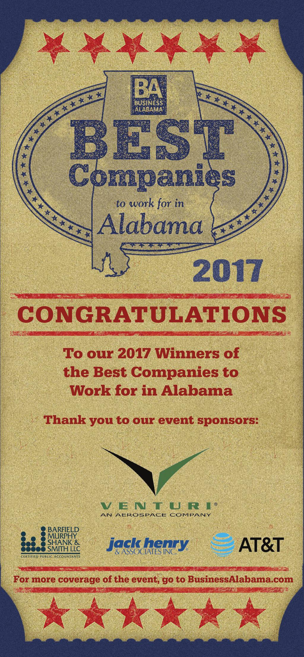 2017 BEST COMPANIES TO WORK FOR IN ALABAMA - PDF Free Download