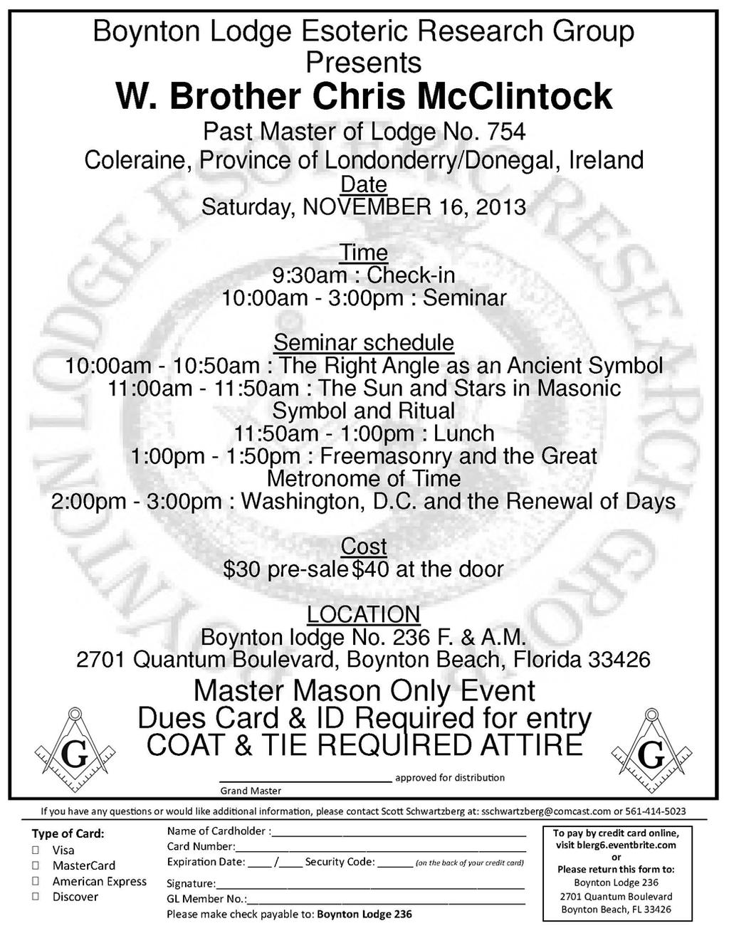 MASTERS AND WARDENS ASSOCIATION OF BROWARD COUNTY, FLORIDA