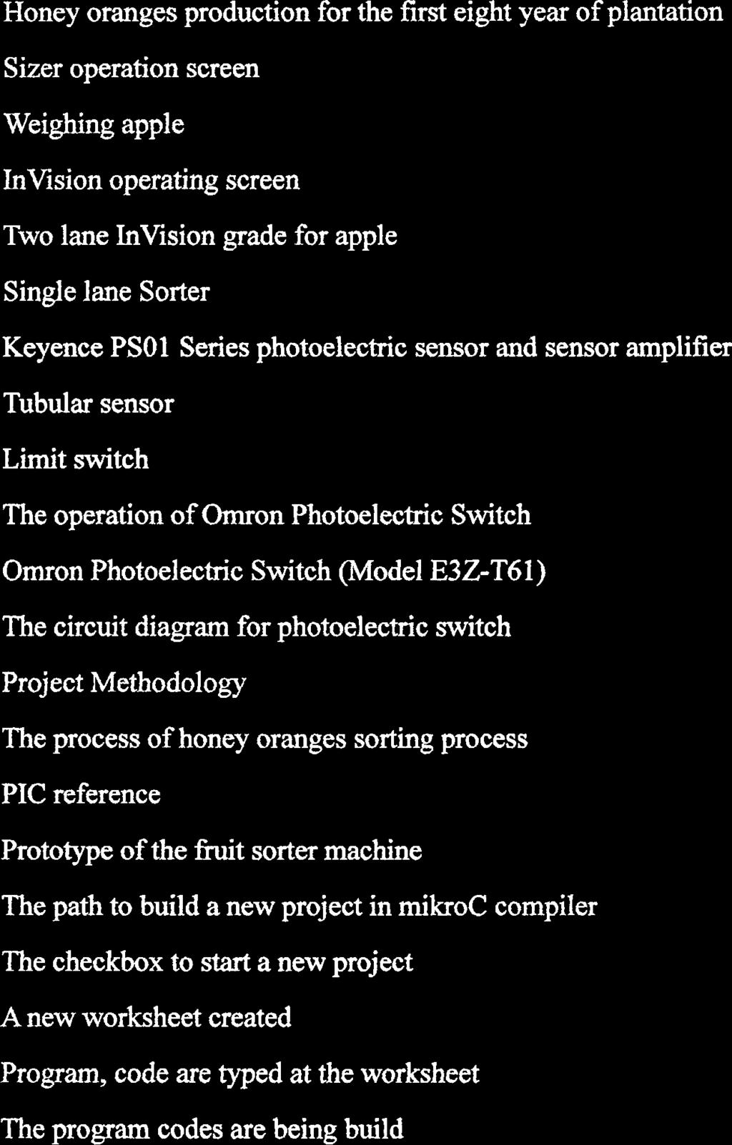 A Fruit Honey Oranges Sorter Machine Pdf Omron Photoelectric Sensor Wiring Diagram List Of Figures Figure Title Page Production For The First Eight Year Plantation