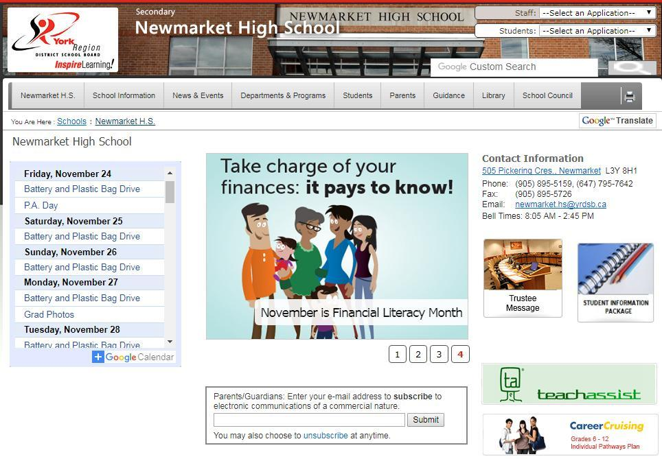 Newmarket High School COURSE SELECTION Presentation for