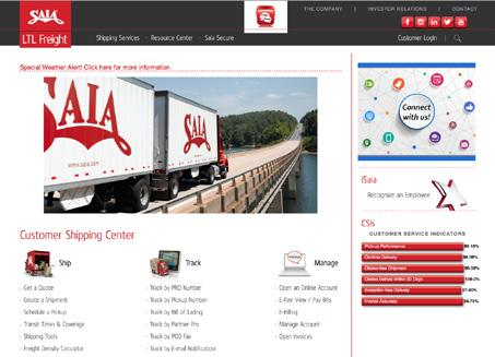 shipping needs. That s why Saia is invested in providing innovative solutions that enable customers