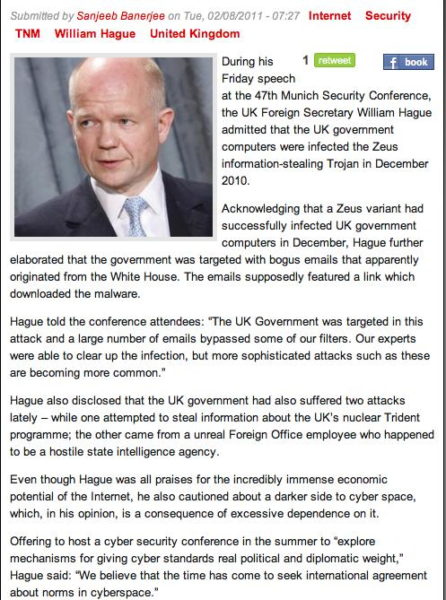 Current Events William Hague UK Foreign