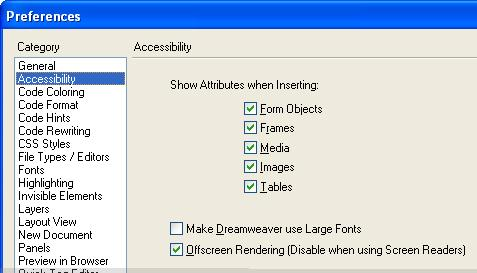 Making Web Sites Accessible with Dreamweaver MX (PC) - PDF