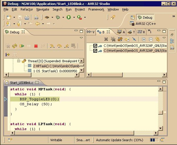 embos Real Time Operating System CPU & Compiler specifics