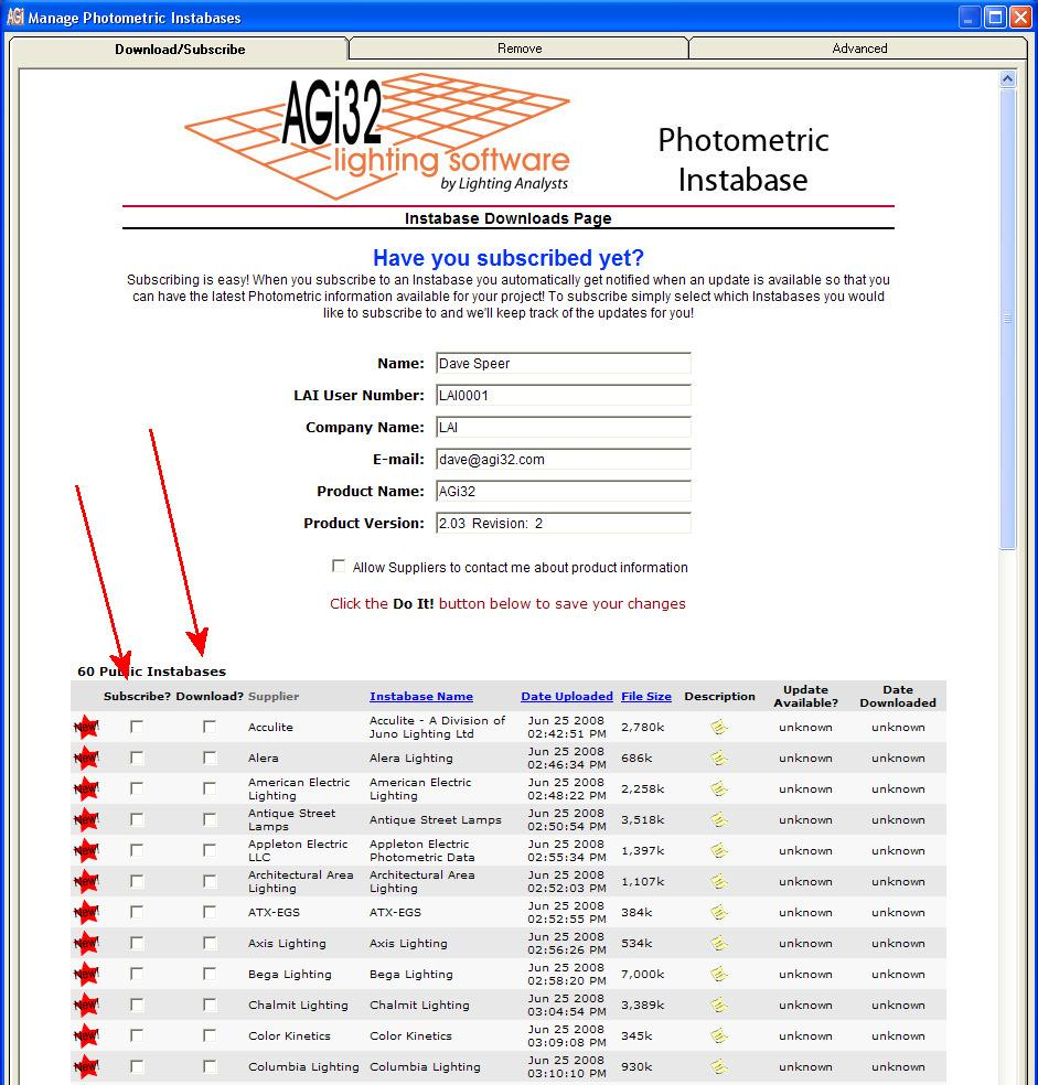 Manufacturers Guidelines for assembling photometric files