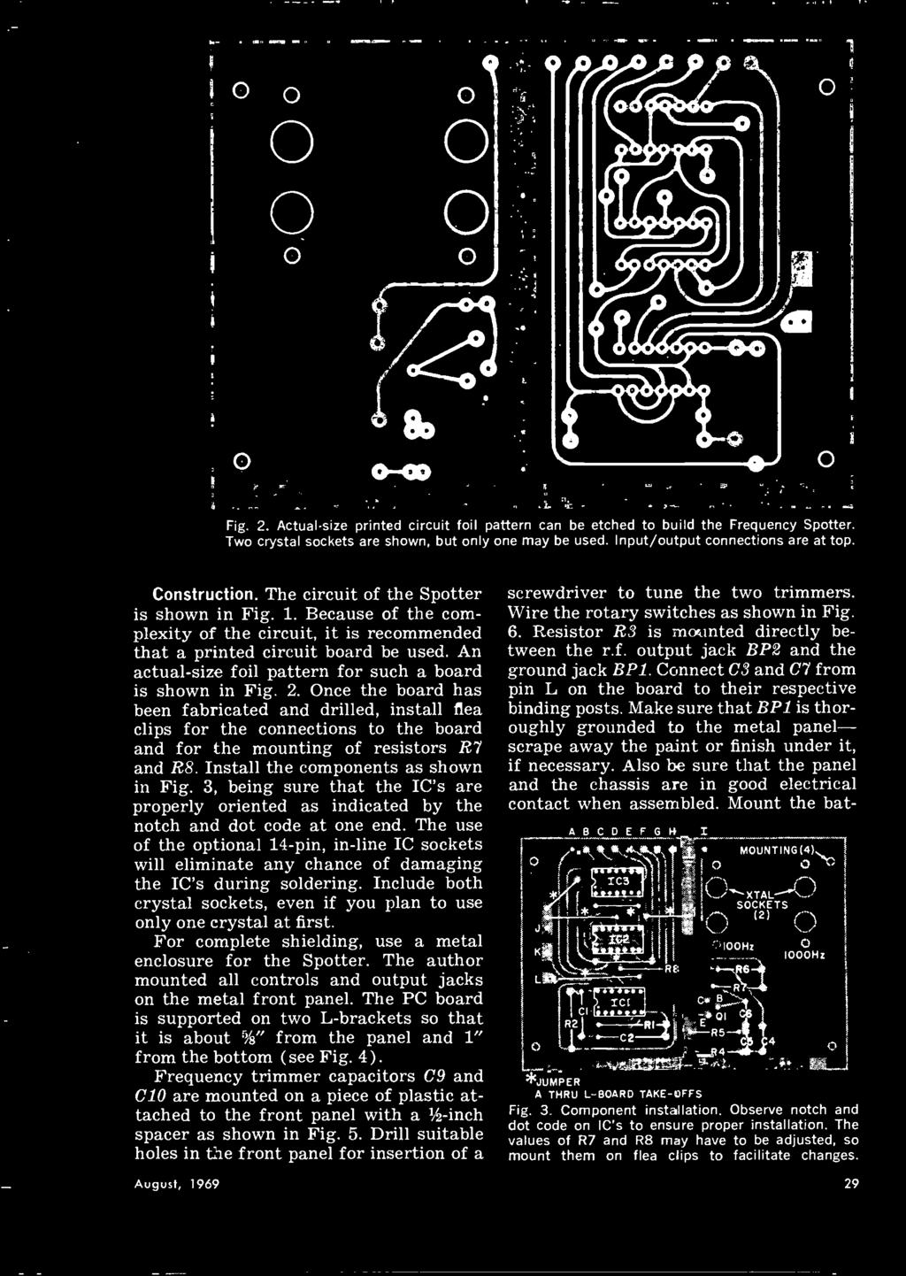 Whats New In 1970 Cb Equipment What To Buy Ham Radio Augugsq Dwell R5 Hanra 110 Quad Wiring Diagram An Actual Size Foil Pattern For Such A Board Is Shown Fig 2