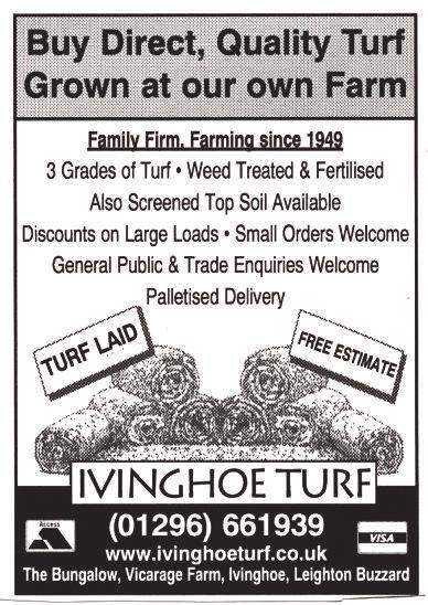 Autumn 2012 Pitstone Parish Post Page 25 Little Cravings Buy Direct, Quality Turf Grown at our own Farm Family Firm, Farming since