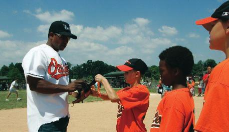 The program is a national Major League Baseball initiative administered and sponsored locally by the Orioles.