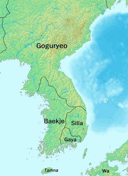 Paekche -- Southwestern part of peninsula Ancestors related to Koguryo but they migrated earlier and began a rival kingdom Silla Southeastern part of peninsula
