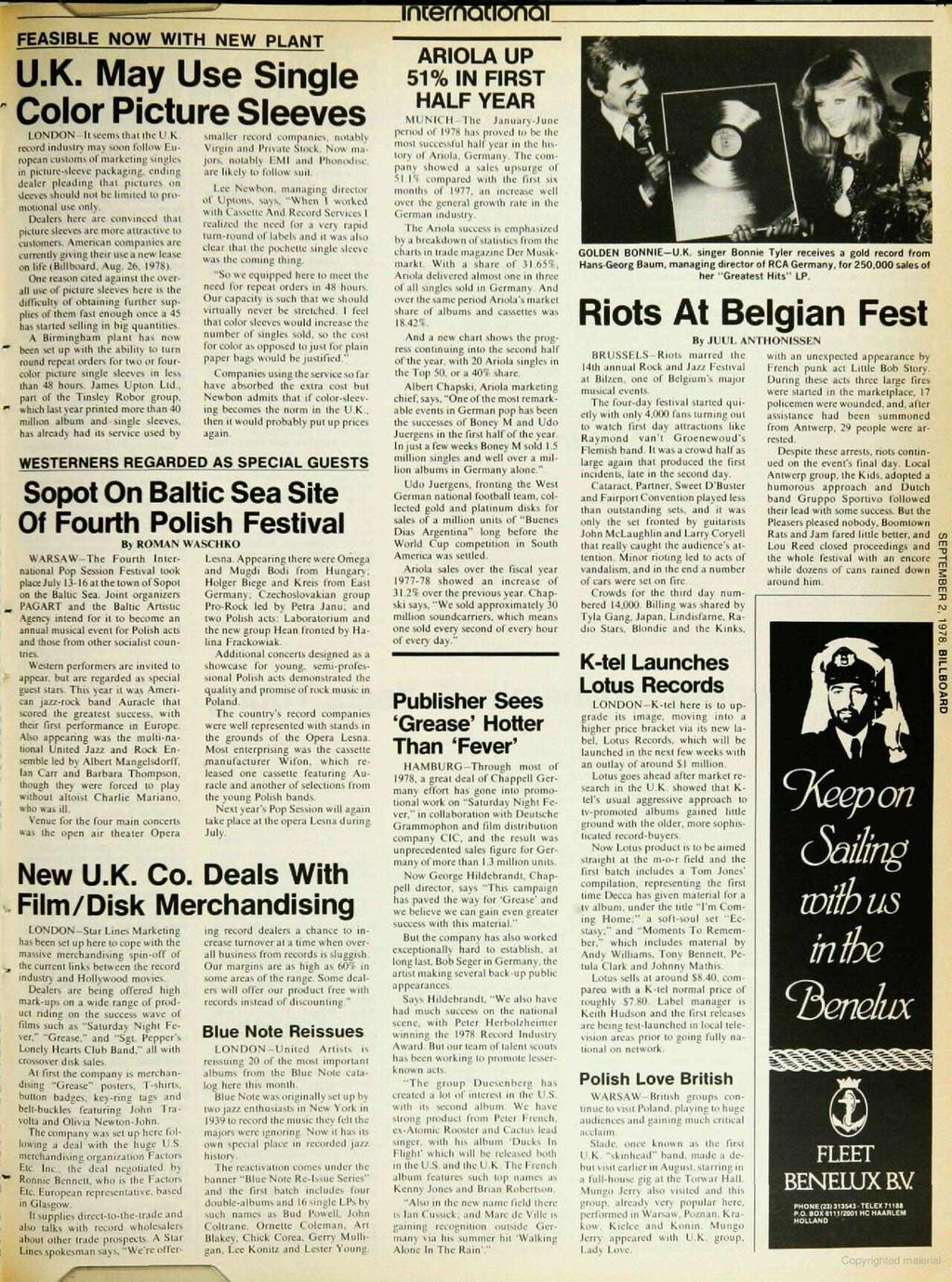 I A Billboard Publication The International Music Record Tape All New Beat Sporty Esp Cbs Iss Fusion Magenta Black Kendal Newsweekly Sept 2 1978 1 95 U S Two Sections Section Pdf